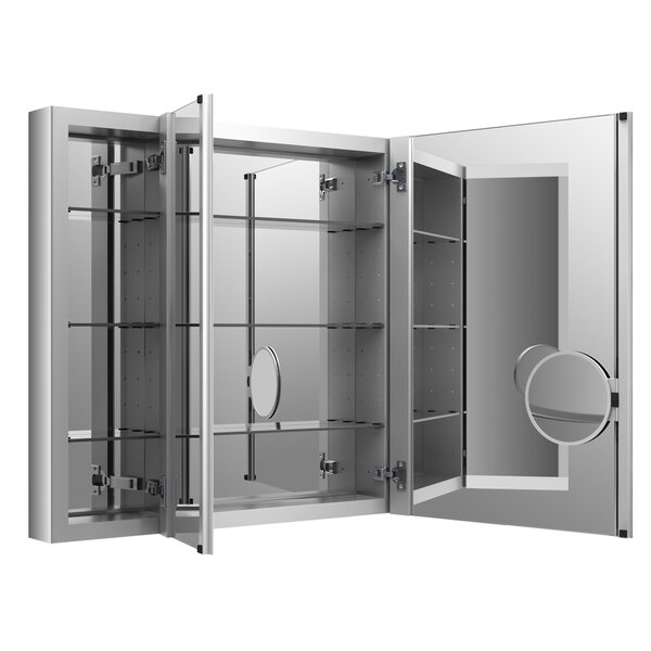 Verdera Aluminum Medicine Cabinet with Adjustable Flip Out Flat Mirror, 40 W x 30 H by Kohler