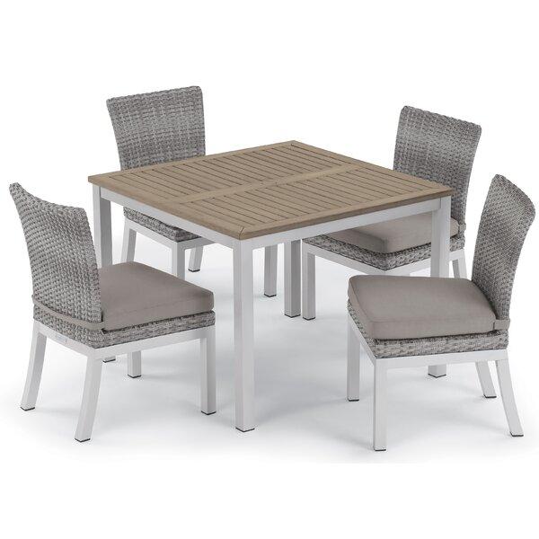 Saleem 5 Piece Dining Set with Cushions by Brayden Studio