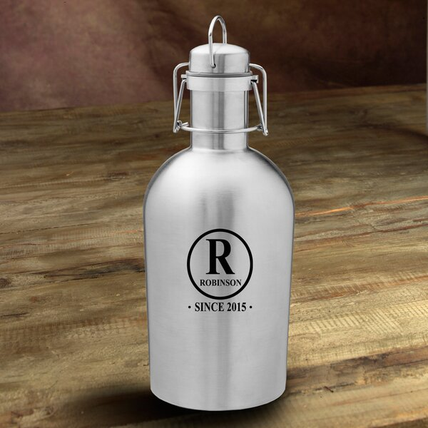 Initial Personalized 64 oz. Stainless Steel Growler by JDS Personalized Gifts