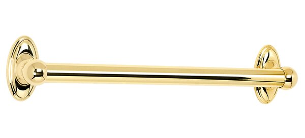Classic Traditional 18 Grab Bar with Brass Construction by Alno Inc
