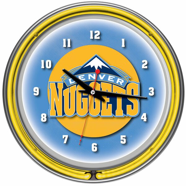 14.5 NBA Double Ring Neon Wall Clock by Trademark