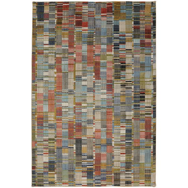 Metropolitan Blue/Red Area Rug by Mohawk Home