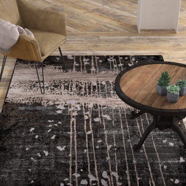 Pierce Charcoal Area Rug by Williston Forge