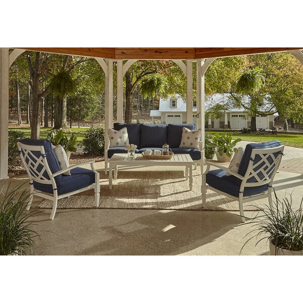 Mimosa 4 Piece Sunbrella Sofa Set with Cushions by Klaussner Furniture