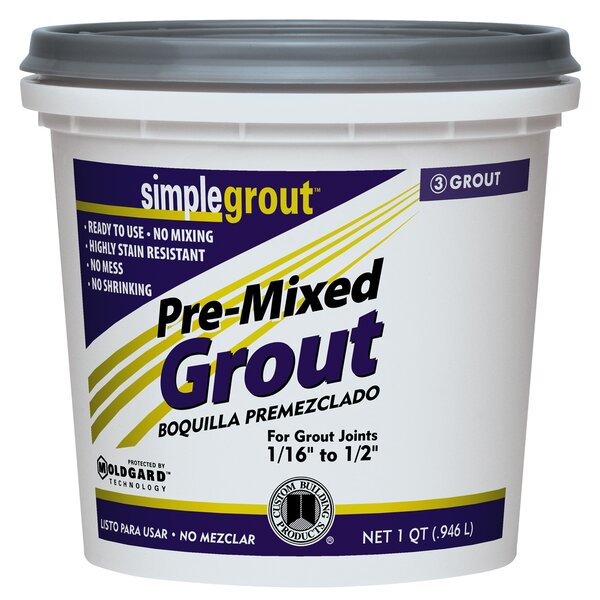 Pre Mixed Grout 1 Quart in Alabaster (Set of 6) by Custom Building Products