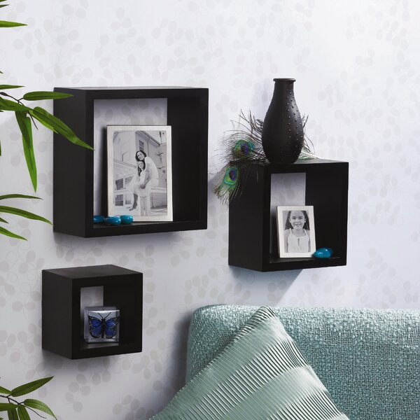 3 Piece Square Shelf Set by Melannco
