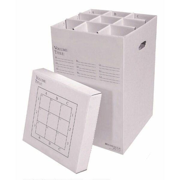 9 Slot Rolled Filing Box by Advanced Organizing Systems