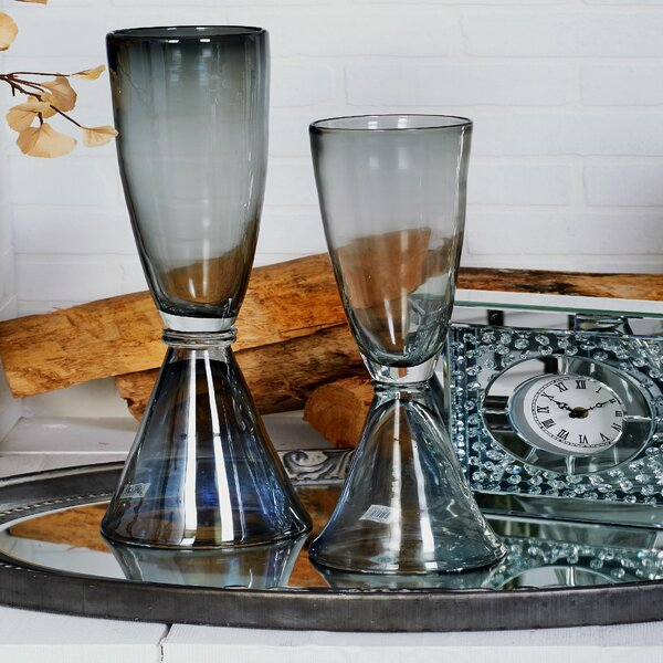 Glass Floor Vase by Cole & Grey