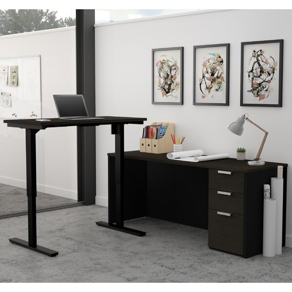 Hartleton Contemporary L-Shape Corner Desk by Latitude Run