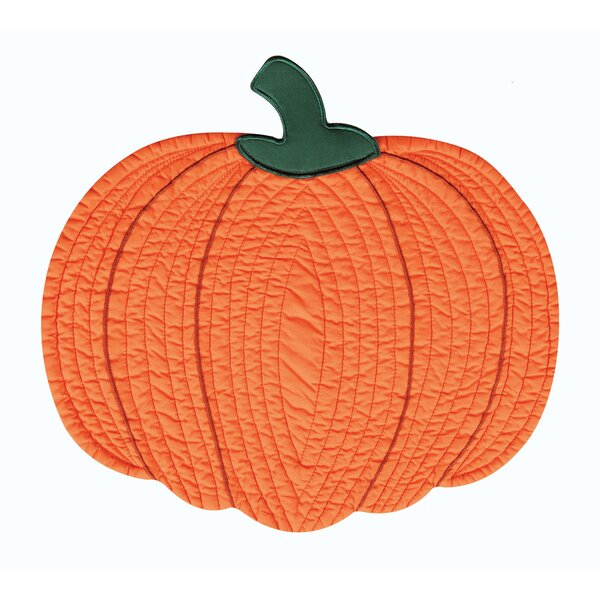 Pumpkin Placemat (Set of 6) by The Holiday Aisle