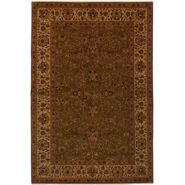 One-of-a-Kind Kenmar Hand-Knotted Wool Brown/Red Area Rug by Darby Home Co