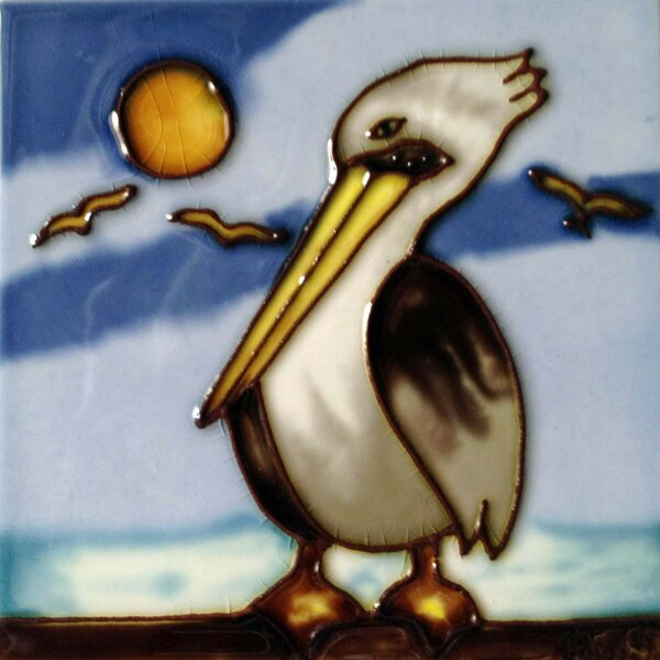 Pelican Tile Wall Decor by Continental Art Center