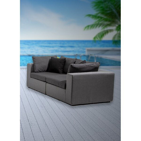 Malani Patio Loveseat with Sunbrella Cushions by Brayden Studio