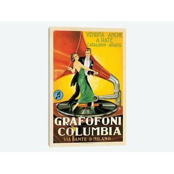 Grafofoni Columbia NEW Retro Reproduction Advertising Themed Postcard