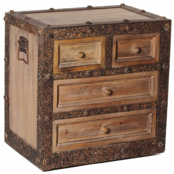 Wrenn Wooden 4 Drawer Accent Chest by Millwood Pines