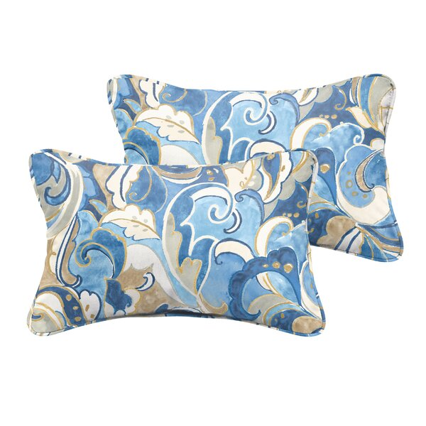Betty Indoor/Outdoor Lumbar Pillow (Set of 2) by Latitude Run