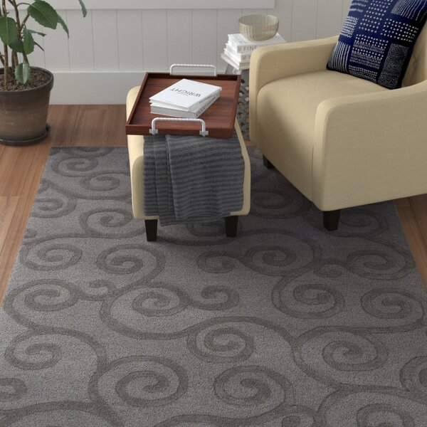 Alperton Hand-Tufted Gray Area Rug by Winston Porter