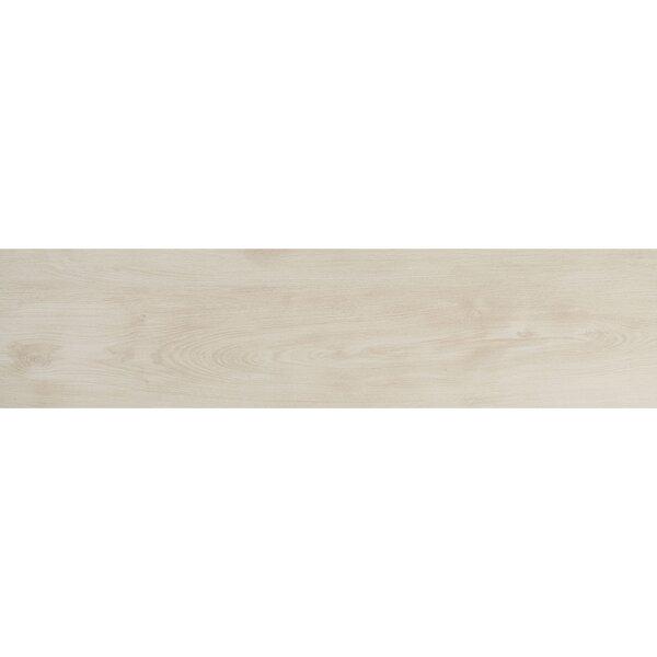 Bridgeport 9 x 36 Porcelain Wood Look Tile in White Oak by Itona Tile