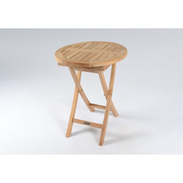 Stewart Folding Teak Bistro Table by Breakwater Bay