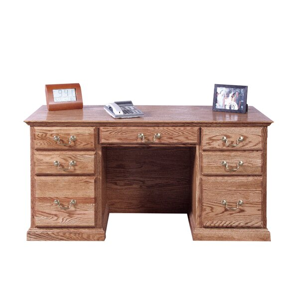 Jeffries Corner Drawer Executive Desk by Loon Peak