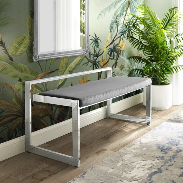 Simeon Upholstered Bench by Nicole Miller Nicole Miller