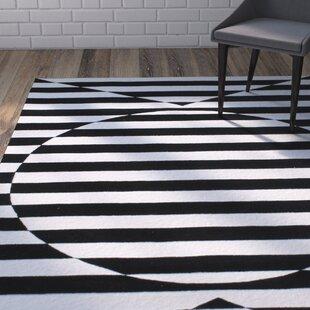 Deals Darnall Hand-Woven Black Area Rug ByBrayden Studio