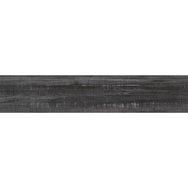 Belmond Obsidian 8 x 40 Ceramic Wood Look Tile in Black by MSI