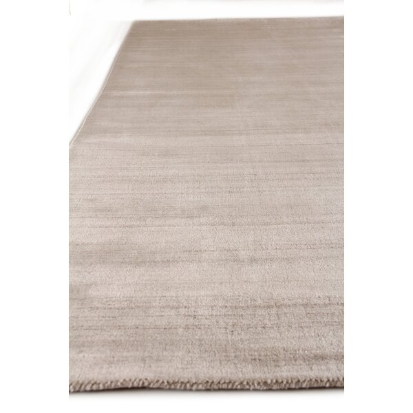 Sanctuary Hand Woven Silk Light Beige Area Rug by Exquisite Rugs