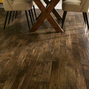 5 Solid Hickory Hardwood Flooring in Umber by Armstrong Flooring