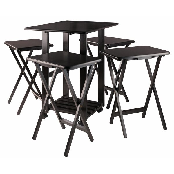 Costigan Snack 5 Piece Tray Table Set by Latitude Run