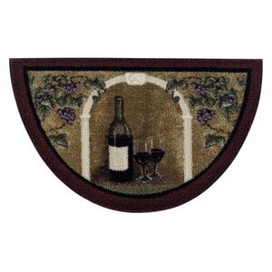 Allgood Wine Kitchen Brown Area Rug