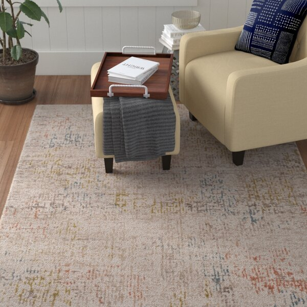 Holmes Distressed Lime Area Rug by Winston Porter