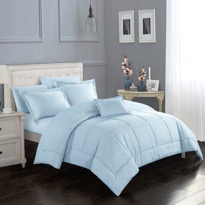 Ebern Designstalita Comforter Set Ebern Designs Size King Comforter 7 Additional Pieces Color Blue Dailymail