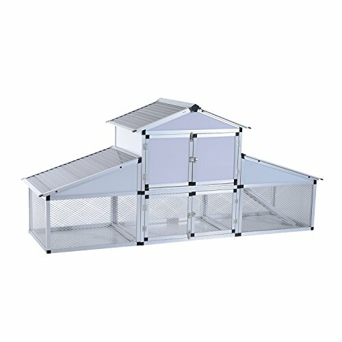 Lightweight Aluminum Frame Chicken Coop by Pawhut