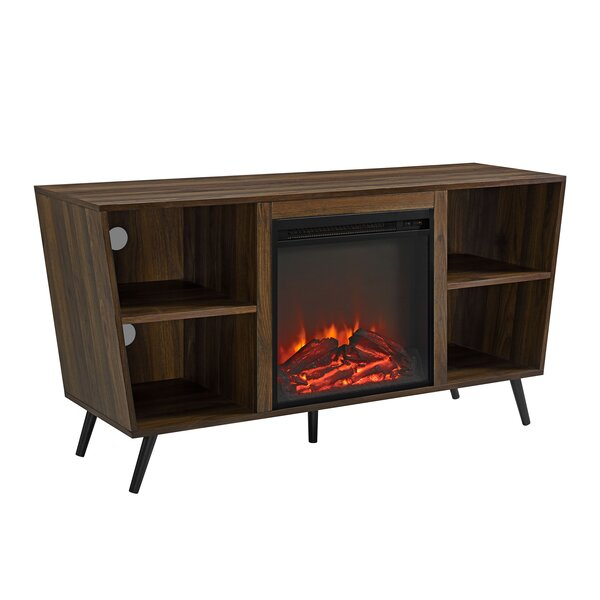 Demoss 52 TV Stand with Fireplace by Wrought Studio