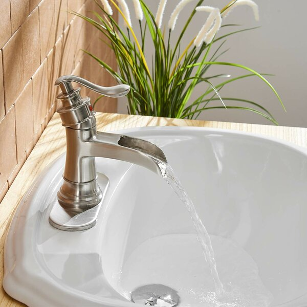 Commercial Single Hole Bathroom Faucet with Drain Assembly