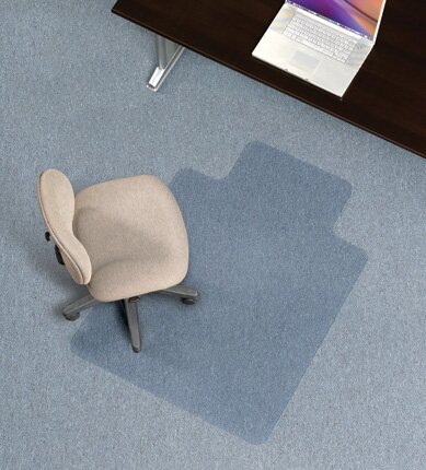 Economy Low Pile Carpet Straight Edge Chair Mat by ES Robbins Corporation