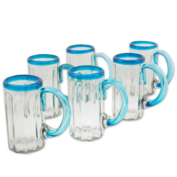 Kiss 15 oz. Beer Mug (Set of 6) by Novica