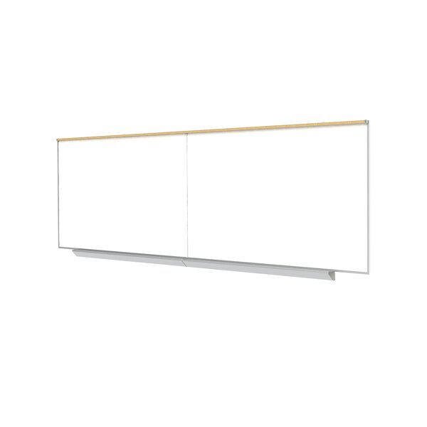"Ghent Magnetic Porcelain Whiteboard with Aluminum Box Tray and 1"" Map rail by Ghent"