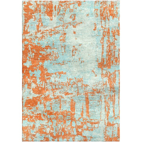 Ashford Handloom Orange/Blue Area Rug by Ivy Bronx