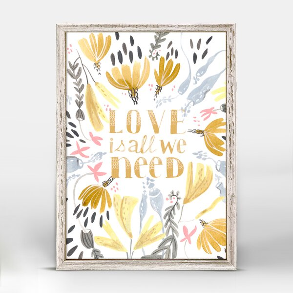 Love is All We Need by Rae Ritchie Mini Canvas Framed Art by Oopsy Daisy