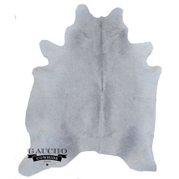 One-of-a-Kind Norfolk Gray/White Cowhide Area Rug by Rosdorf Park