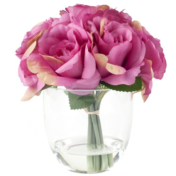 Rose Arrangement in Glass Vase by Pure Garden