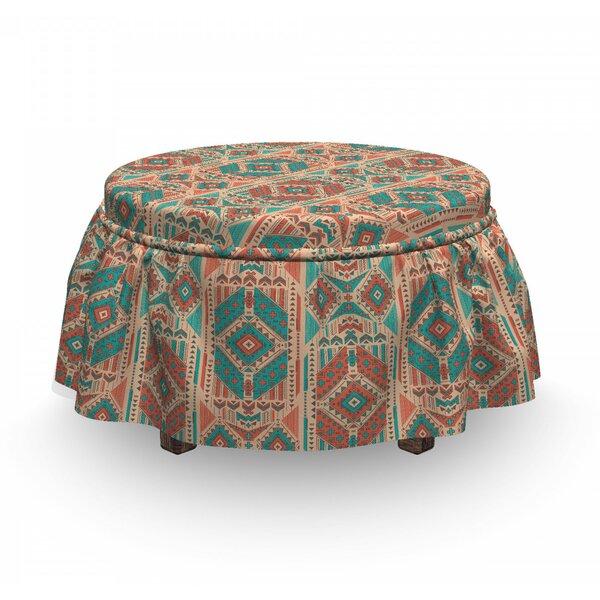 Geometric Motif Ottoman Slipcover (Set Of 2) By East Urban Home