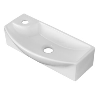 Best Price Ceramic Rectangular Vessel Bathroom Sink with Overflow By American Imaginations