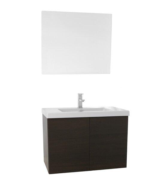 Space 31 Single Bathroom Vanity Set with Mirror by Nameeks Vanities