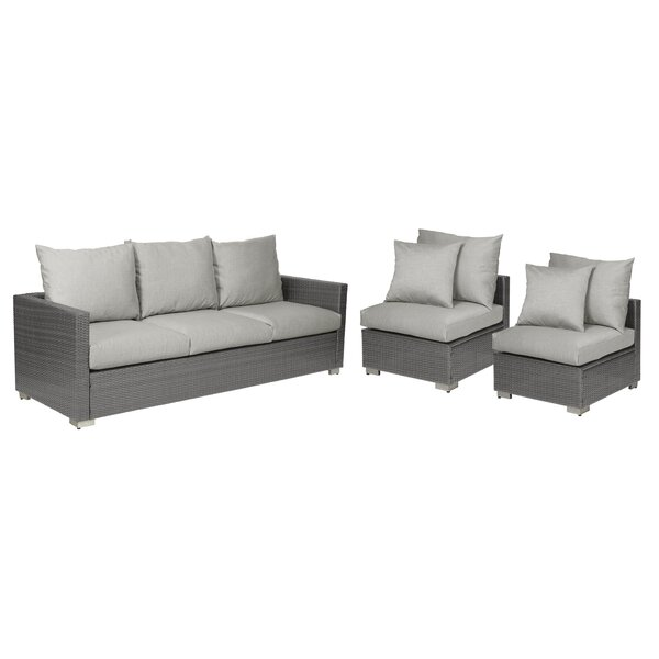 Sarver 3 Piece Sofa Set with Cushions by Ivy Bronx