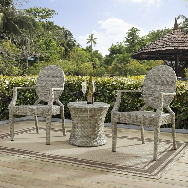 Byron 3 Piece Bistro Set by Bayou Breeze