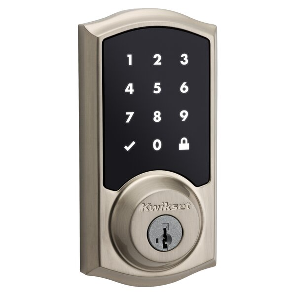 SmartCode Single Cylinder Electronic Deadbolt featuring Smartkey by Kwikset