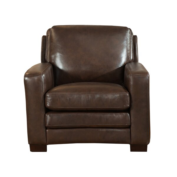 Hadnot Leather Club Chair by Orren Ellis